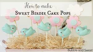 how to make super cute bird cake pops youtube