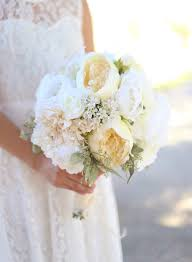 Shabby Chic Bridal Bouquet by Silk Bride Bouquet White Cream Roses Peonies Wildflowers Natural