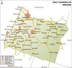 oregon golf courses map golf courses in oregon