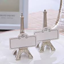 eiffel tower favors 2pieces wedding eiffel tower table number place name card stand