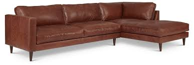 Lane Benson Sofa by Cheviot Leather Sectional Brown Elite Leather Company Brands