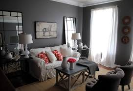 Living Room Grey Sofa by Living Small Apartment Living Room With White Standing Lamp And