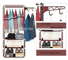 steel wardrobe creative fashion hangers easy assembly put the