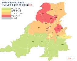 Map Of Atlanta Neighborhoods by The 10 Most And Least Expensive Zip Codes In Atlanta For Renters