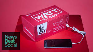 kfc debuts mobile phone charging meal box youtube