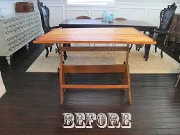 Vintage Drafting Tables Before After Vintage Drafting Table Turned Dining Table