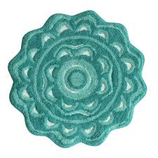 Aqua Bathroom Rugs Medallion Bath Rug Spice Coral Burnt