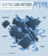 San Antonio Texas Zip Code Map by How Many Major Us Cities Would Fit Inside San Antonio Rentcafe