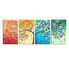 Handmade Home Decor Amazon Com Grepova Art Four Seasons Tree Painting Art