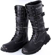 s lace up boots size 11 arrival s knee high boots black buckles lace up leather