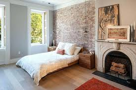 exposed brick wall lighting brick wall lighting lighting and bedside tables reflect an