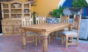 mexican dining table set rustic heritage furniture mexican and texas style home furniture