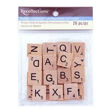 buy the wooden letter tiles by recollections at michaels