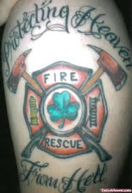 fire fighter heaven tattoo on shoulder tattoo viewer com
