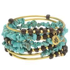turquoise gemstone turquoise gemstone memory wire bracelet exclusive beadaholique