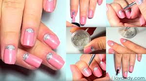 diy how to make moon nail design step by step