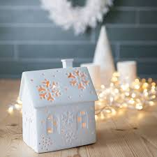 christmas house tea light holder christmas houses tea light