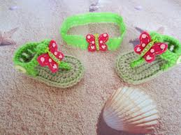 crochet baby headband crochet baby sandals and headband crochet sandals baby sandals