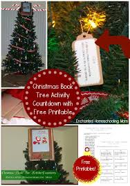book tree activity countdown with free printable
