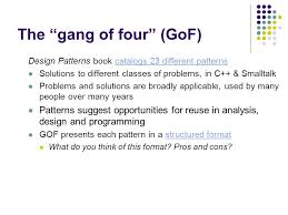 design pattern c gang of four pure fabrication and gang of four design patterns ppt video