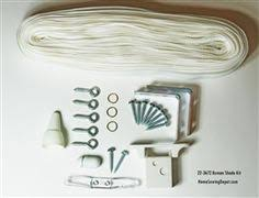 Roman Shade Hardware Kits - all in one roman shade hardware kit in white cord lock pulleys