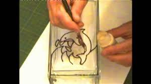 Dolphin Vase Glass Painted Dolphin Vase Youtube