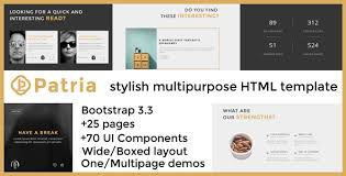 patria stylish multipurpose html template by xtracare themeforest
