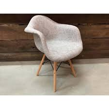 Scandinavian Style Armchair Eiffel Eames Style Armchair With Scandinavian Fabric U2013 Wazo Furniture
