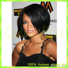 black women with 29 peice hairstyle short cut 8 inches human hair bob wigs lace front wig with baby