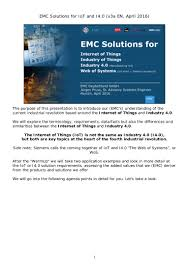 emc solutions for the internet of things and industrie 4 0 platform u2026