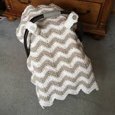 Free Carseat Canopy Pattern by Ravelry Chunky Chevron Car Seat Canopy Cover By Crochet By