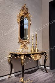 entrance table and mirror table decorations console table wood console table with mirror