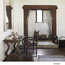 simple neutral walls can let natural wood and stone stand out