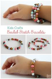 kids crafts beaded stretch bracelets tutorial beads bracelets