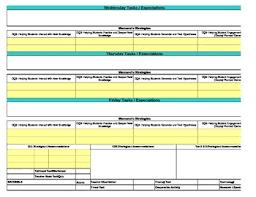 core marzano interactive lesson plan template kindergarten reading