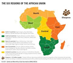 Map Of Tanzania Africa by The Six Regions Of The African Union West Africa Gateway