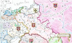 Map Poland Map I Drew Of Poland And Her Neighbors At The Death Of Casimir Iii