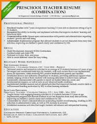Resume Objective For Preschool Teacher Preschool Teacher Resume Sample Science Teacher Resume Examples