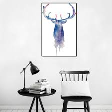 online get cheap abstract elk painting aliexpress com alibaba group