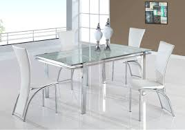 metal glass dining table set stainless steel top dining room table