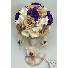 burlap boutonniere purple ivory creme rustic burlap lace bouquets corsages