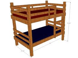 Bunk Bed Drawing Plans Toddler Bunk Bed Plans
