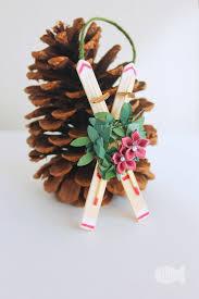 diy craft stick snow ski ornament or kid made craft