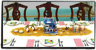 surfer ocean u0026 beach themed centerpieces dinner party decorations