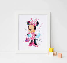 minnie mouse wall art minnie watercolor minnie mouse print zoom