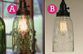 Glass Jar Pendant Light Mason Jar Pendant Light Decor Steals