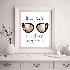 chanel sunglasses fashion print fashion quote art coco zoom