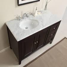 45 Bathroom Vanity by 6269 Wm 45 45 Single Sink Vanity Carrara White Marble Top Cabinet