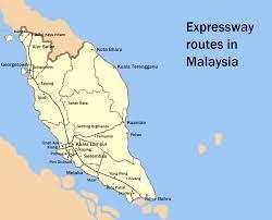 Map Of Malaysia Malaysian Expressway System Wikipedia