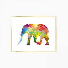 elephant digital print and poster drawing u0026 illustration